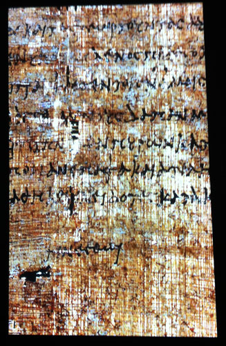 Cleopatra's Handwriting on Papyrus